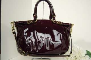 NWT Coach Madison Sophia Patent Leather Satchel Plum 18613 Purple $398