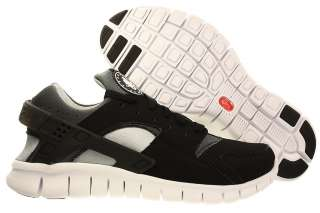 Men Nike Huarache Free 2012 Running Shoes Training Black/White/Grey