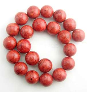 Huge 17 18mm Round Natural Sponge Red Coral Loose Beads