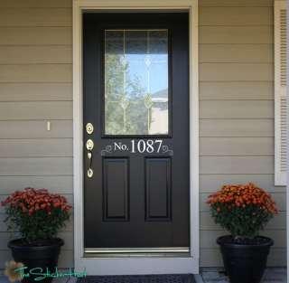 Your Address Front Door Vinyl Decals Stickers 970