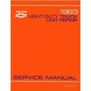 1993 CHEVY GMC C/K 10 30 TRUCK Overhaul Manual Book Automotive