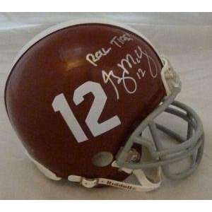 Greg McElroy Autographed Alabama Crimson Tide Mini Helmet