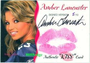 2005 BENCHWARMER AUTOGRAPH AUTO LIP KISS #15: AMBER LANCASTER #5/10