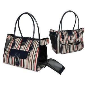 HuggleHounds Classic Boat Tote Dog/Cat Carrier, Navy with