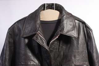 MENS A2/FLIGHT OAKTON SOFT LEATHER COAT/JACKET sz M