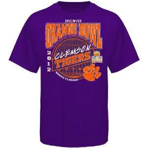 Clemson Tigers Youth 2012 Orange Bowl T Shirt   Purple