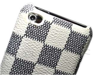 New white Leather hard case cover for ipod touch 4 os 4