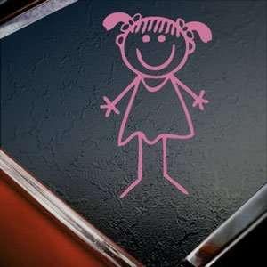 Girl Pink Decal Car Truck Bumper Window Vinyl Pink Sticker