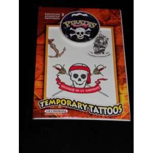 Pirates on the High Seas Temporary Tattoos assorted Styles