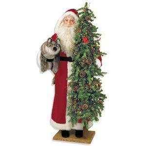 57 Ditz Father Christmas Santa Fox and Cardinal Tree