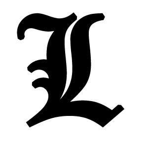 Old English Lettering Letter L White Decal: Automotive