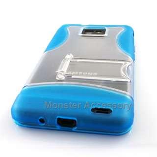 Blue Kickstand Hard Case Cover Samsung Galaxy S2 i9100
