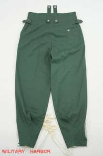 WWII German M43 summer HBT reed green field trousers keilhosen W42