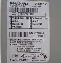 Allen Bradley 160 AA04NPS1 Smart Speed Controllers 1HP