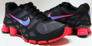 NIKE SHOX TURBO + 12 Women Shoes Sz 6.5 ~ 10 #454165 046 Grey/Glow/Red