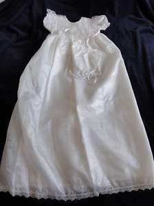 NWT Baptism Christening Blessing Dress White 24 Bonnet