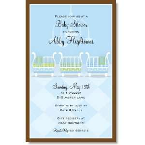 Baby Boy Cribs Party Invitations Toys & Games