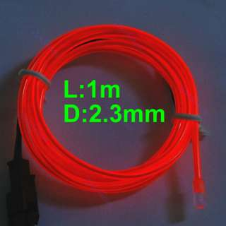 3ft Flexible Neon Light Glow EL Wire Rope Tube Car Party Bar Decorate