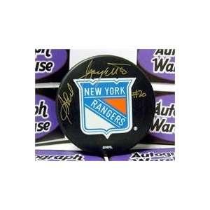 Phil Goyette autographed New York Rangers Hockey Puck