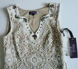 Bob Cotton Lace Crochet Dress S 4 6 UK 8 10 NWT Guilty Pleasures IVORY