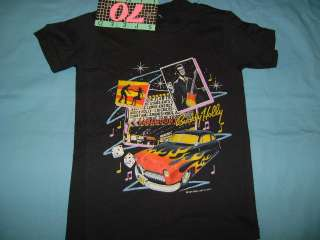 vintage BUDDY HOLLY ROCKIN 50S HOT ROD NWT t shirt YS