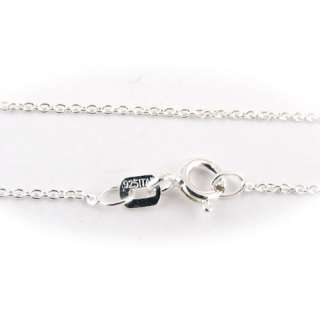 925 Sterling Silver Fine Cable Chain Necklace ITALY