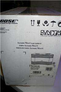 NEW IN BOX BOSE ACOUSTIC WAVE MUSIC SYSTEM II WITH REMOTE