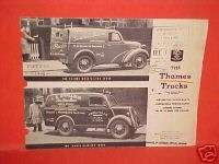 1948 1949 FORD THAMES HALF TON TRUCKS BROCHURE BOOK