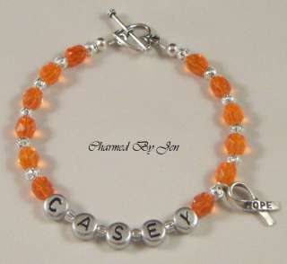 MS MULTIPLE SCLEROSIS Awareness PERSONALIZED Bracelet