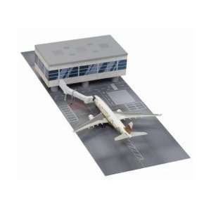 Airport Terminal Section with Gulf Air A330 200 Model: Toys & Games