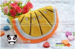 Women Cute Lemon Orange Key Coin Bag Wallet Purse #248