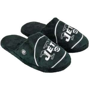 New York Jets 2010 Official NFL Big Logo Hard Sole Plush Slippers Size