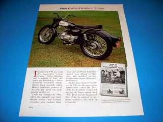 1966 Harley Davidson Sprint motorcycle ad