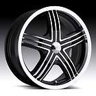 17 inch Milanni Stealth Black Wheels Rims 4x100 +40