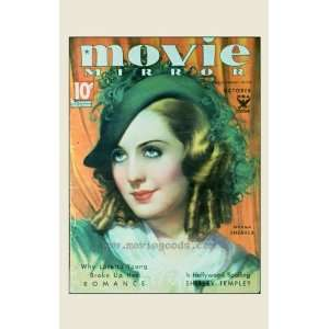 Norma Shearer Poster Movie Movie Mirror Magazine Cover