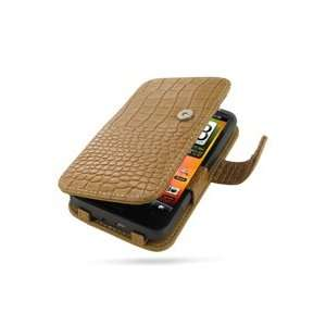 PDair Brown Crocodile B41 Leather Case for HTC Desire HD