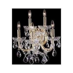 Aurora Borealis Crystal Maria Theresa Crystal Two Light Wall Sconce f