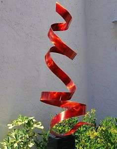 Modern Abstract Metal Art Decor Freeform Outdoor/Indoor Sculpture Red