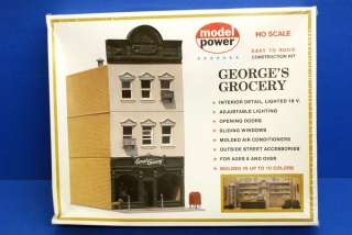 Rare Model Power HO Scale Georges Grocery Building Kit NIB Sealed
