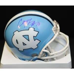 BSS   Cam Thomas (UNC Tarheels) Signed Autographed Mini Helmet