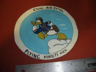 WWII USAAF CIVIL AIR PATROL FLYING MINUTEMEN DUCK PATCH