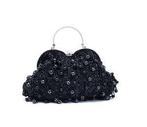 Pearls & Beads Crochet Evening/Wedding Party Clutch Purse Bag