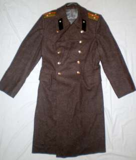 Russian Soviet Military Uniform Army Officer Overcoat Coat USSR Shinel