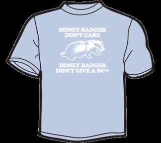 HONEY BADGER DONT CARE T Shirt WOMENS funny vintage 80s