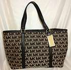 New $228 Diaper Bag Michael Kors Handbag XLG Summer Tote Black MK LOGO