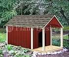 Dog House / Pet Kenel Plans, Gable Double Roof Style with Porch