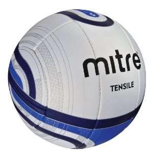 Mitre Tensile 1 OR Size 5 Soccer Ball, White/Blue/Black