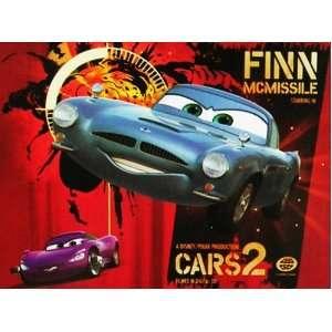 Disney Pixar Cars 2 Finn McMissile Lenticular 3D Floor