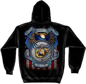 All Gave Some   Some Gave All Marine Corps Black Sweat Shirt with Hood