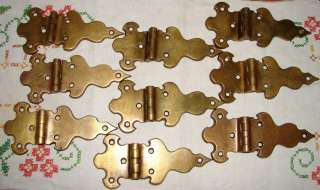 Vintage Ice Box Cooler French Door Brass Hinges #304 7/16